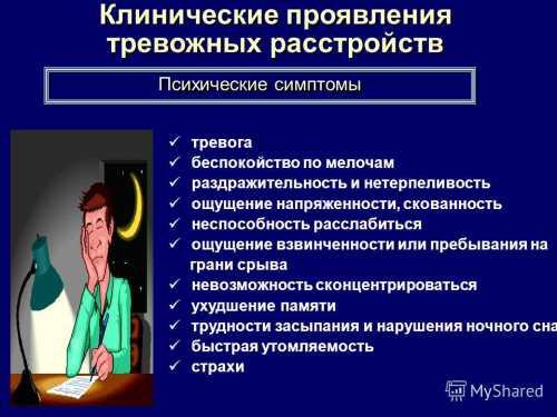 Симптомы психических заболеваний